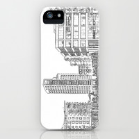 Clarence Dock Leeds Drawing iPhone & iPod Case by Karl Wilson Photography