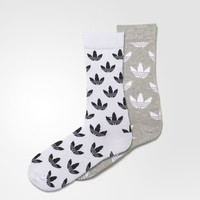 adidas Thin Graphic Crew Socks 2 Pairs - Grey | adidas US