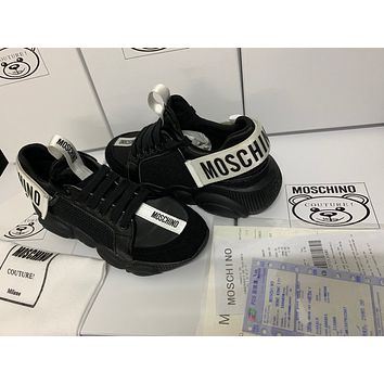 MOSCHINO Women's Leather Sneakers Shoes