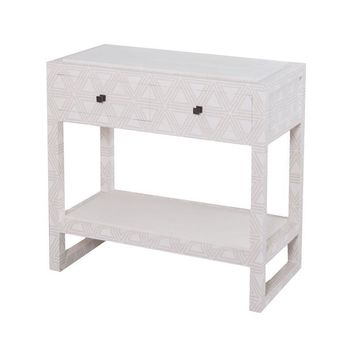 Fabric Covered Bedside Table