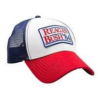 Reagan Bush 84 Meshback Hat in Red, White and Blue by Rowdy Gentleman