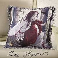 Always Fringed Pillow - New Age, Spiritual Gifts, Yoga, Wicca, Gothic, Reiki, Celtic, Crystal, Tarot at Pyramid Collection