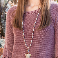 The Chrissy Necklace, Silver Round   BPD