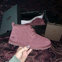 UGG Fashionable Men and Women Martin Boots Lace-up Snow Boots UGG Casual Men and Women Wool Boots Hot Products
