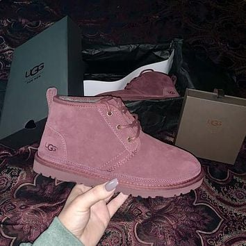 UGG Fashionable Men and Women Martin Boots Lace-up Snow Boots UGG Casual Men and Women Wool Boots Hot Products Shoes