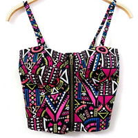 Geo Strappy Bralet Top