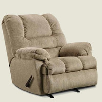 Simmons Upholstery Zig Zag Tan Recliner