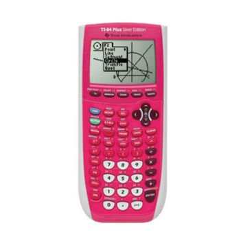 Texas Instruments TI-84 Plus Silver Edition Graphing Calculator in Pink