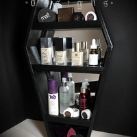 PRE-ORDER Mirrored Coffin Makeup Vanity Shelf, Mirror, Makeup, Coffin, Makeup Shelf, Makeup Organizer, Coffin Shelf, Mirror, Coffin Mirror