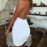Wrap-Around The Back Dress