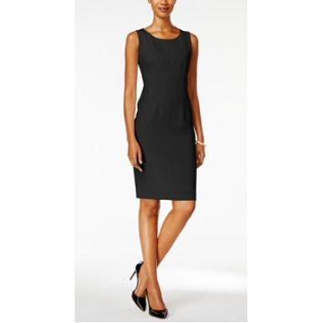 Kasper Black Solid Sheath Dress Size 8