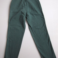 Vintage Mom Jeans 24 x 28.5 High Waisted Rise Green Denim 24""