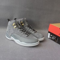 Air Jordan Retro 12 shoe Dark Grey for Mens Basketball Shoes US 8-13