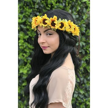 Sunflower Blossom Crown #D1048