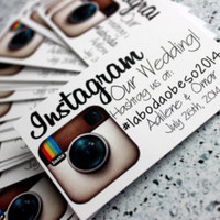 Business card sized Instagram our wedding cards
