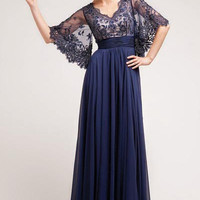 17-3095 PRIMA BOHO Chic Lace Chiffon Bell Sleeve Mother of Bride Dress Evening Gown