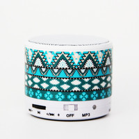 Aztec Tribal Green Wireless Bluetooth Mini Speaker