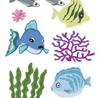 "Touch of Jolee's Sticker Fish & Coral - 7"" x 2.5"""