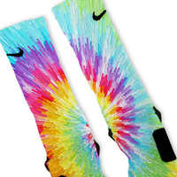 Tie Dye Blast Custom Nike Elite Socks