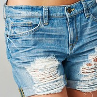 SNEAK PEEK-Distressed Boyfriend Shorts