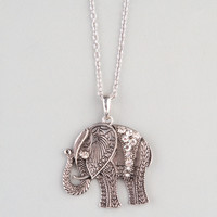 FULL TILT Filigree Elephant Pendant 228651140 | Necklaces