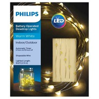 Philips 30 ct Dewdrop Fairy String Lights- Clear