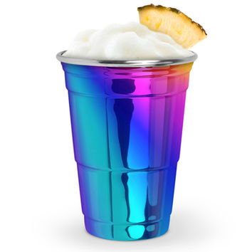 STEEL RAINBOW PARTY CUP