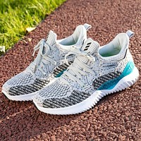 Adidas new clover Alpha running shoes casual ice silk breathable shoes men and women all-match sports shoes