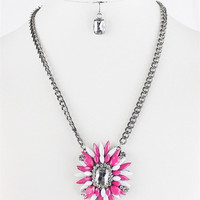 On Point Necklace: Pink