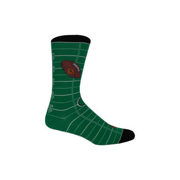 Football Field Crew Socks in Green