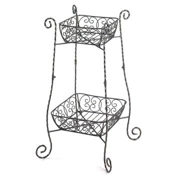 Wire Basket Plant Stand