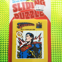 1978 Superman Sliding Puzzle! New! Factory Sealed & Never Opened! ULTRA RARE! 1970s Vintage Super Brain Teaser Toy Retro Great Gift