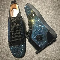 Cl Christian Louboutin Rhinestone Style #1940 Sneakers Fashion Shoes
