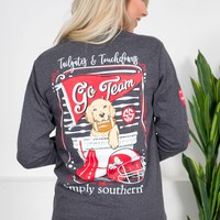 Tailgates & Touchdowns    Grey   Simply Southern