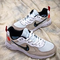 OFF WHITE x Nike Air Lcarus Extra QS Retro White Grey Sport Running Shoes - Best Online Sale
