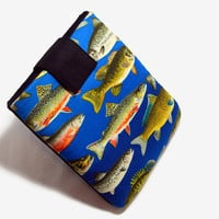 Hand Crafted Tablet Case From Fish Fabric / Case for iPad, iPad Mini, Kindle Fire HD, Samsung Galaxy HD, Google Nexus, Nook HD