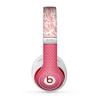The Hot Pink Swirly Pattern with Polka Dots Skin for the Beats by Dre Studio (2013+ Version) Headphones