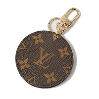 LV Louis Vuitton Fashion Trending Leather Key Pouch Round Small Key Wallet