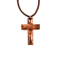 Wood Cross Necklace, Wooden Cross Pendant, Cross Necklace, Mens Cross Necklace, Mens Wood Cross Pendant, Mens Wood Cross, Christian Jewelry