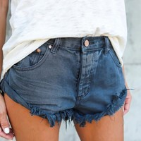 Stagecoach Cuffed Shorts - Moody Blue