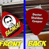 The Big Bang Theory Sheldon Cooper Bazinga Guitar Pick Promo