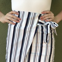 Best Interest Skirt- White Multi