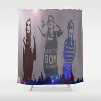 Ellie Goulding  Shower Curtain by SVA / Silvia V An