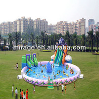 Inflatable Swimming Pool With Water Slide-- Fantasy Ocean Pool - Buy Inflatable Water Pool,Giant Inflatable Aqua Park,Water Slide Game Amusement Park Product on Alibaba.com