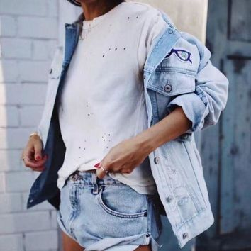 Women's Loose holes in a T-shirt