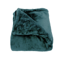 Oh So Soft Teal King-size Microfiber Blanket