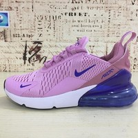 Nike Air Max 270 Women Light Pink Blue Sport Running Shoes - Best Online Sale