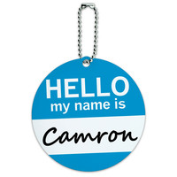 Camron Hello My Name Is Round ID Card Luggage Tag
