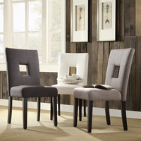 TRIBECCA HOME Mendoza Keyhole Back Dining Chairs (Set of 2)