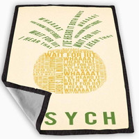 psych pinapple quotes Blanket for Kids Blanket, Fleece Blanket Cute and Awesome Blanket for your bedding, Blanket fleece *